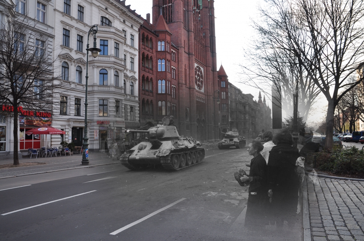 Pictures berlin after wwii Berlin pictures show the Red Army rampaging through German